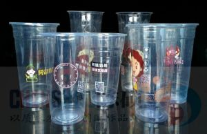 Custom Printed Transparent Disposable PP Pet Plastic Cup with Lid pictures & photos
