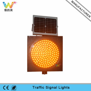 Road Safety 400mm Solar Yellow Traffic Warning Light pictures & photos