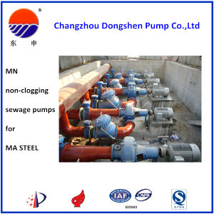 Mn Non-Clogging Sewage Pump for Ma Steel