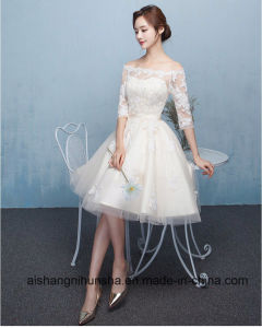 Princes Boat Neck Evening Party Gowns pictures & photos