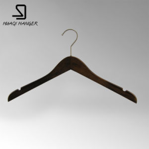 Cheap Wooden Rubber Coating Clothes Hanger with Non-Slip pictures & photos