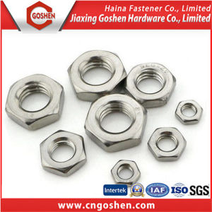 Ome Cheap Stainless Steel Hex Nuts, Unchamfered Hexagon Thin Nuts pictures & photos