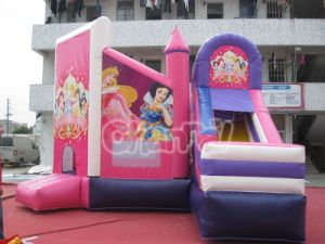Inflatable Pink Princess Bouncer with Slide for Sale pictures & photos