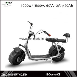 Fashion 1000W Brushless Adult Electric Scooter Citycoco 2 Seats pictures & photos