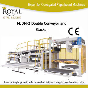 Sale Double Conveyor Stacker for Corrugated Paperboard (MJDM-2) pictures & photos