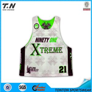 Custom Sublimated Reversible Lacrosse Mesh Jersey pictures & photos