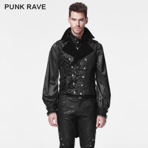 2015 Autumn New Design Punk Rave Black Man Vest (Y-596) pictures & photos