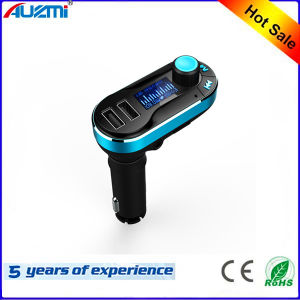 Portable 2USB Car Charger with LED Screen and FM