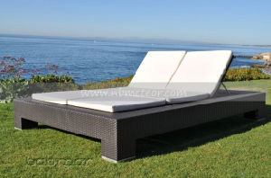 Mtc-083 Outdoor Wicker Chaise Double Sun Lounge Rattan Sofa Bed pictures & photos