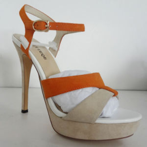 New Style Women Waterproof Platform High Heels Shoes Sandals (OLY16314-10) pictures & photos
