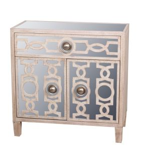 China Wholesale Home Decoration Vintage Accent Wooden Mirror Cabinet pictures & photos