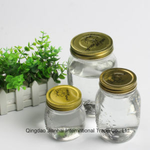 Embossed Vintage Pattern Glass Storage Bottle for Christmas Decoration pictures & photos