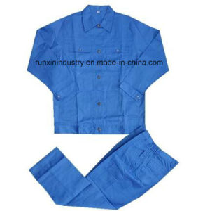 Blue Color 100%Cotton Work Suit 001 pictures & photos