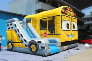 Yellow Inflatable Bus Bouncer for Indoor Kids Jump (CHB1131) pictures & photos