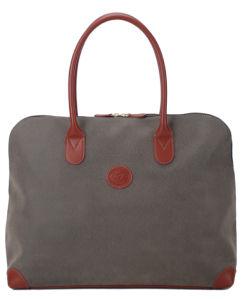 Khaki PU Duffle Overnight Gym Luggage Travel Weekender Bag Large