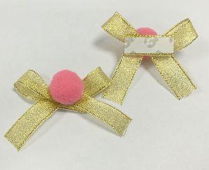 Metallic Christmas Ribbon Bows Wholesale pictures & photos