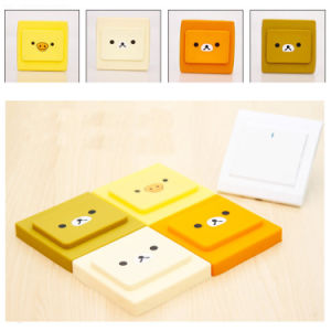 Happy Bear Cute Silicone Switch Power Cover Case for Decoration pictures & photos