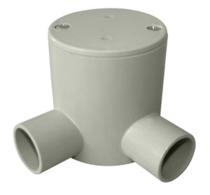 Australian Standard Plastic UPVC Conduit& Fittings ---Deep J/Box with 2 Way Angle Entries pictures & photos