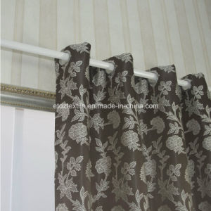 Top Trend Jacquard Flower Window Fabric Curtain pictures & photos