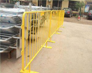 Orange Powder Coating Steel Barricade/1100mm High Road Barrier pictures & photos