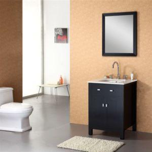 24 Inch Single Sink Floor Standing Solid Wood Bathroom Cabinet