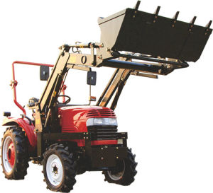 The Farm Tractor with Front End Loader Machine