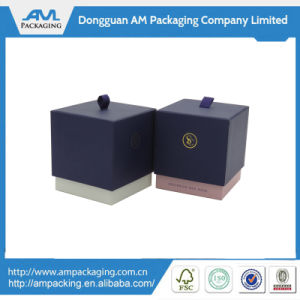 Custom Made Gift Paper Drawer Box Flat Pack Candle Box Packaging for Watch or Ring pictures & photos