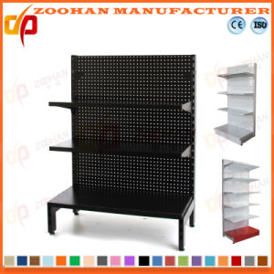 3 Tier Customized Supermarket Holeback Wall Display Shelving Unit (Zhs565) pictures & photos