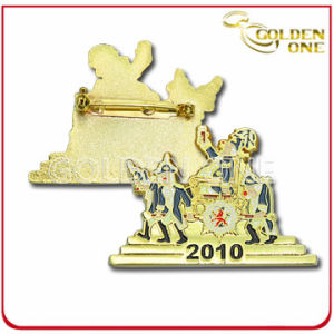 Factory Wholesale Custom Gold Plated Color Fill Metal Badge pictures & photos