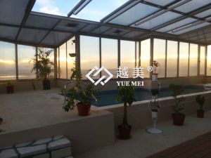 Yuemei 1mm Transparent Polycarbonate Sheet Greca Corrugated Sheet pictures & photos