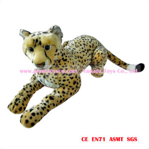 90cm Simulation Lying Leopard Plush Animal Toys