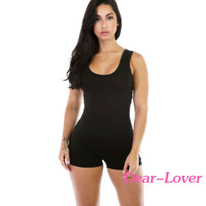 Hot Sale Black Slim Fitted Tank Romper pictures & photos
