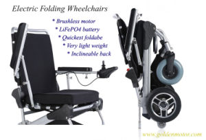 E-Throne 8′′, 10′′ 12′′ Folding Power Wheelchair with Li-on Battery pictures & photos