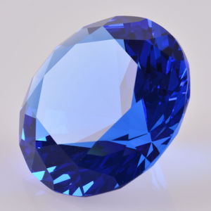 Machine Made Crystal Glass Diamond Office Paperweight with Different Color pictures & photos
