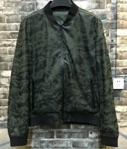 Men Fashion Waterproof Camo Militar Bomber PU Leather Jacket pictures & photos