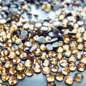 Top Quality Golden Hot Fix Rhinestone Strass for Shoes (SS16 Golden/4A grade) pictures & photos