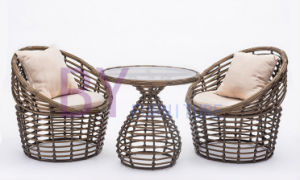 Woven Rattan Round Shape Living Room Garden Leisure Furniture pictures & photos
