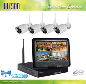 CCTV HD 4CH Wireless WiFi Camera System Integrated with 10 Inch LCD Monitor pictures & photos