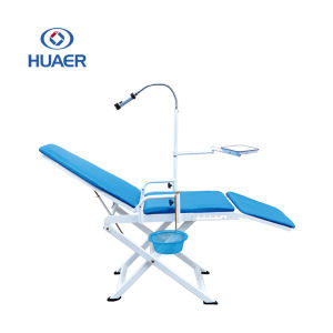 Dental Supply Foldable Mobile Portable Dental Chair with Bag pictures & photos