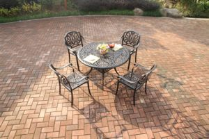 High Quality Garden Dining Sets Cast Aluminum Furniture pictures & photos