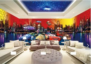 Car Cartoon Wallpaper Murals for Kids Room pictures & photos