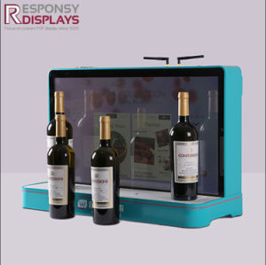 Decorative Promotion Small Counter Acrylic Wine or Drink Bottles Display Shelf pictures & photos