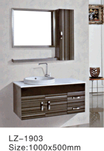 Wall Mounted and Floor Mounted Stainless Steel Bathroom Vanity pictures & photos