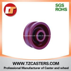 4-8inch V-Groove Cast Iron Wheel pictures & photos