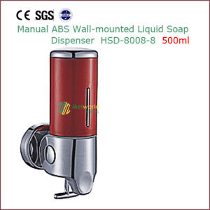 Wall Mounted Manual ABS Liquid Soap Dispenser 500ml pictures & photos