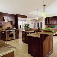 Kitchen Cabinet Dark Cherry Kitchen Cabinets (DC4) pictures & photos