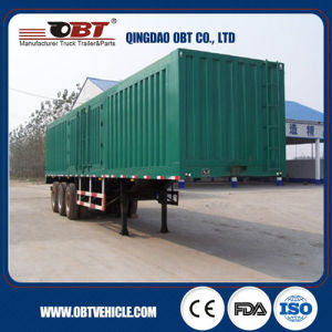 China Factory Steel Material 50 Tons Van Semi Trailer pictures & photos