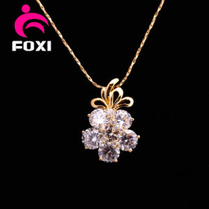 Flower Zircon Stone Silver Pendants Jewelry for Girls pictures & photos