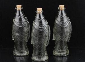 Free Smple Glass Storage Jar Fish Shape Wine Glass Juice Bottle pictures & photos
