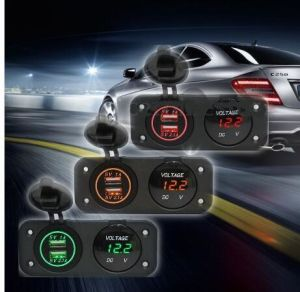 Car USB Voltmeter Charger Socket for Vehicles pictures & photos